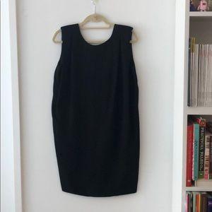 Acne deep v back dress with shoulder pads. Size 38